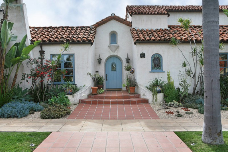 classy blue colonial front door for mediterranean exterior terracotta floors clay burnt roofs curved top entry door
