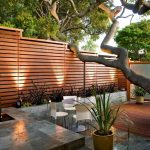 Contemporary Wood Fences Idea With Lower & Upper Surfaces Wood Board Flooring Idea Modern White Furniture For Patio