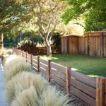 Low Level Wood Fencing Idea For Transitional Landscaping