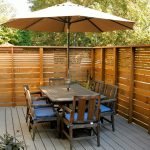Transitional Patio Idea With Wood Decking In Rustic Rustic Style Outdoor Furniture Set Wood Fences Idea Outdoor Umbrella For Shed