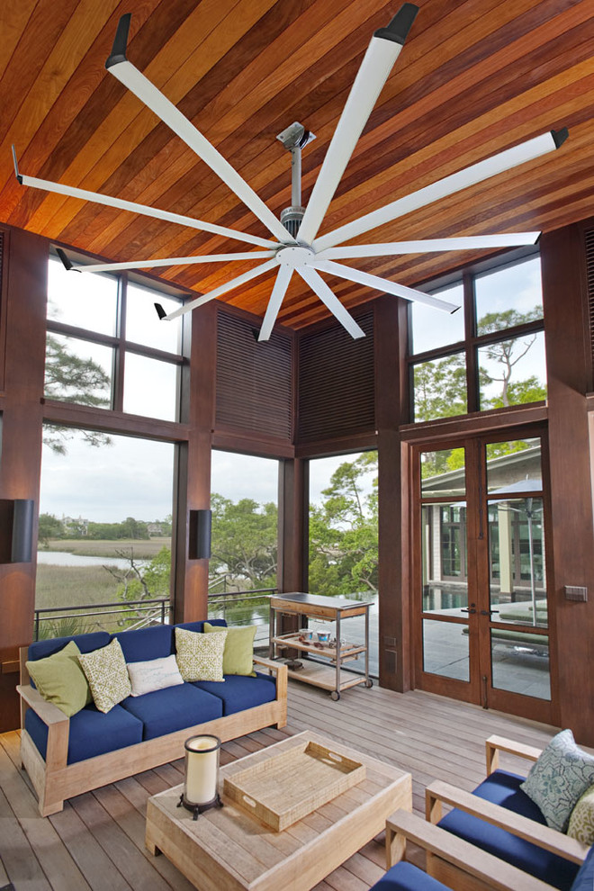 higher wood interior sunroom super big fan in white no finishing wood living room set with blue foam comforters no finishing wood board floors