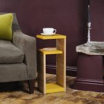 admirable trendy side table with yellow layered tops