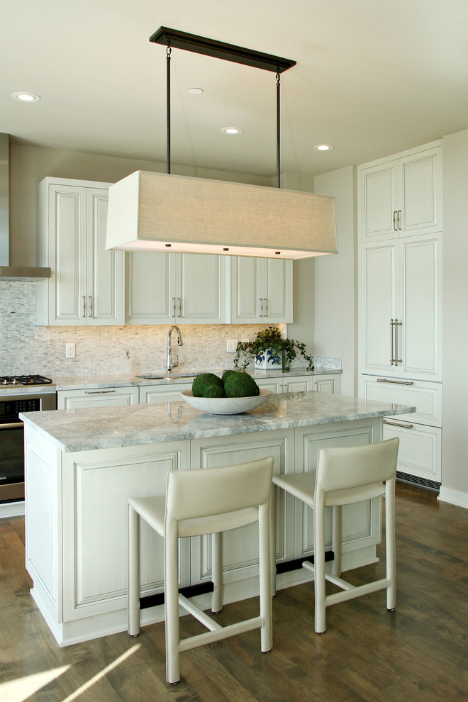 contemporary kitchen design white kitchen island with marble top white stools white kitchen cabinets contemporary square shaped pendant wood floors