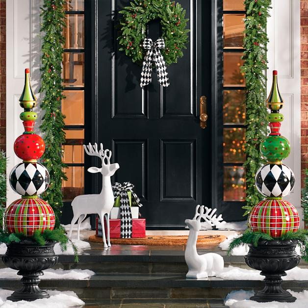 stunning entryway decoration with multicolored orbs