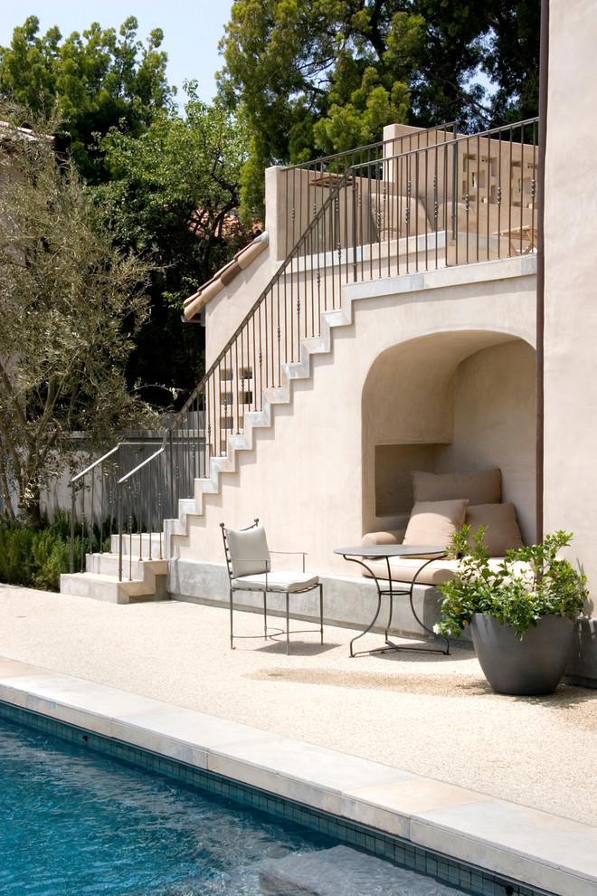tiny poolside idea slimy wrought iron furniture recessed permanent daybed