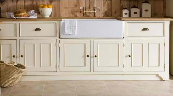 victorian style freestanding kitchen sink cabinet with white painted cabinets white farmhouse sink wooden countertop wood siding wall panels