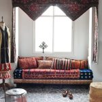 Bay Window Idea Moroccan Style Cushion Moroccan Throws Moroccan Rug Silver Toned Moroccan Pouf Decorative Curtains