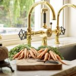 Brass Taps Marble Countertop