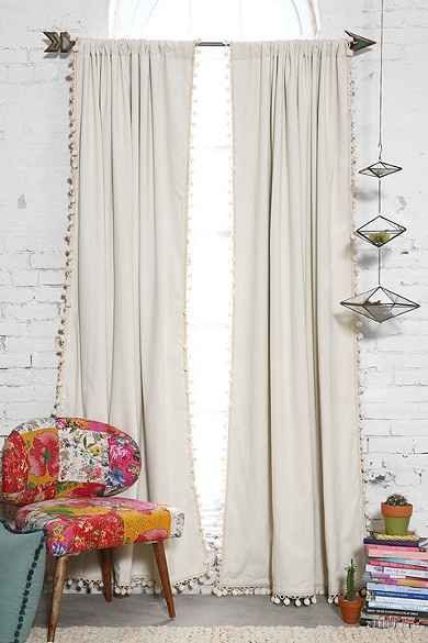 shabby chic curtains in broken white color colorful chair