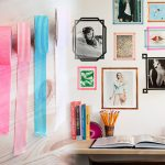 Tape Framed Photos On Wall As Wall Statement