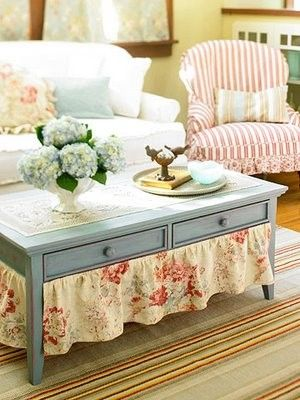 vintage living room idea red striped chair pure white sofa blue vintage coffee table with under skirt striped area rug