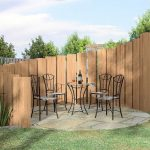 Decorative Wooden Fences Circling Around The Outdoor Seating Area