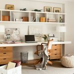 Modern Home Office With Larger Wall Organizer