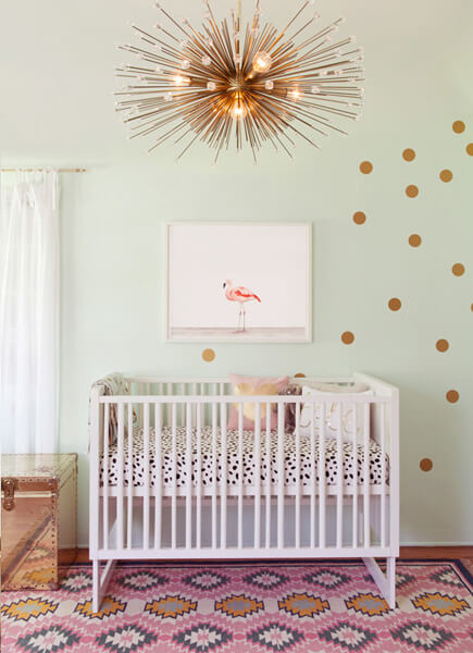 nursery room with multiple colors and patterns