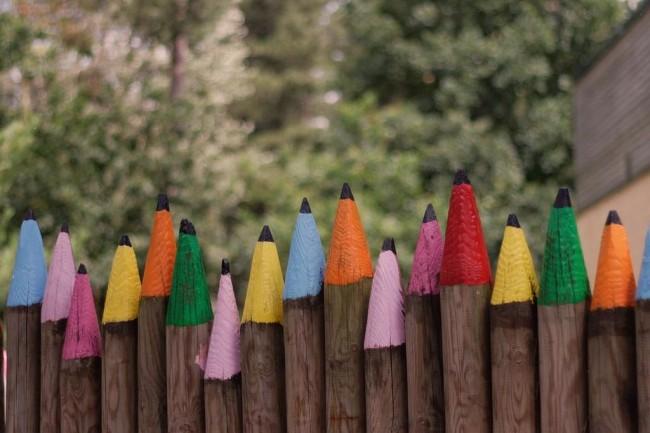 pencil colors like fences idea
