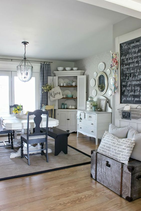 traditional corner cabinet in white traditional hall console table in white white dining table darker gray dining chairs