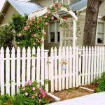 Traditional Wood Fences In White