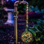 DIY Waterdrop Light Fixture For Gardens Or Backyards