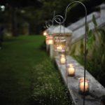 Glass Jam Jar Lanterns For Garden Pathway