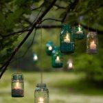 Handmade Mason Jar Garden Candle Holders