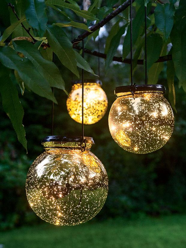 hang garden lighting fixtures with low lighted effect