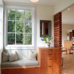 Integrated Wood Bench And Darwer System Contemporary Wood Paneling Idea