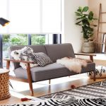 Convertible Futon Cushion In Gray Monochromatic Area Rug & Throws