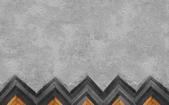herringbone tile concrete flooring idea in separated installation