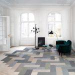 Light Wood Herringbone Tiles Highlighted By Beautiful Stains Dark & Bold Furnishing Sets Dark Floor Lamps A Pop Art