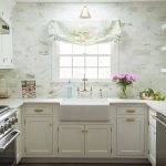 Wood Herringbone Floors In Darker Color White Kitchen Countertop White Kitchen Cabinetry Bright Tile Walls