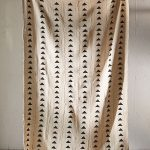 Mali Inspired Hanging Art Made Of Cotton With Black Mud Triangle Prints