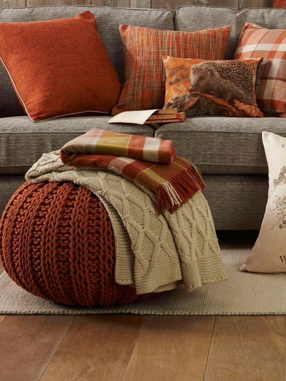 gray sofa sepia colored throw pillows woven wool pouf in sepia woven throw blanket