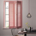 Inviting Pink Window Shutter Tiny Chair With Wood Seater Urban Style Pendant Modern Tile Floors