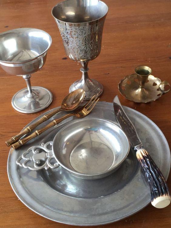 metal feastware in Medieval style