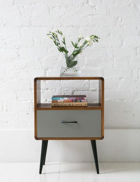 midcentury modern hall console in small size