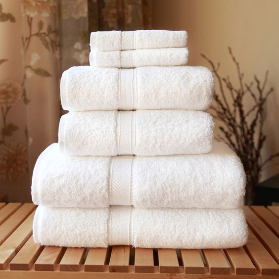 purely white towels