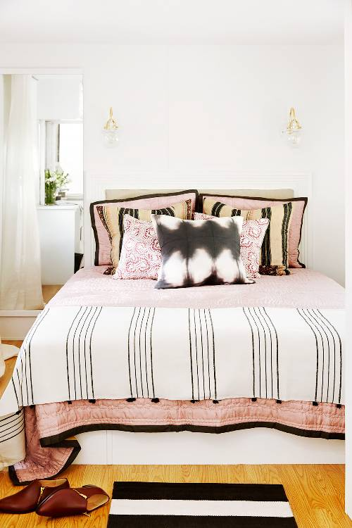 symmetry set throw pillows white bedding striped comforter striped bedroom mat