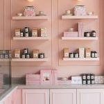 Well Organized Display Rack And Cabinetry In Soft Pink