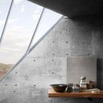 Brutalisme Interior Idea Raw Concrete Walls With Pore Accents Glass Window Paneling In Modern Look