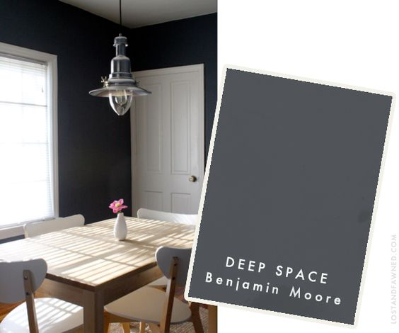 Deep Space wall paint idea by Benjamin Moore