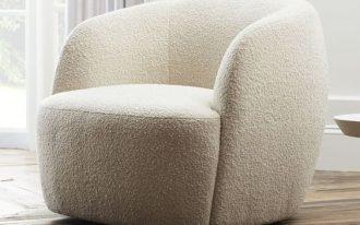 Gwyneth Boucle Chair in light cream