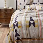 Bed Linen With Striking Modern Prints And Colors Wood Drawing System Classic Bed Frame
