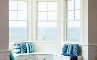 half circle belvederes design half circle bench seat with under storage solution blue throw pillows dark wood floors