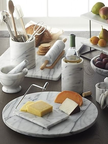 French kitchen marble platters