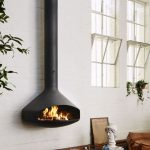 Suspended Fireplace In Black