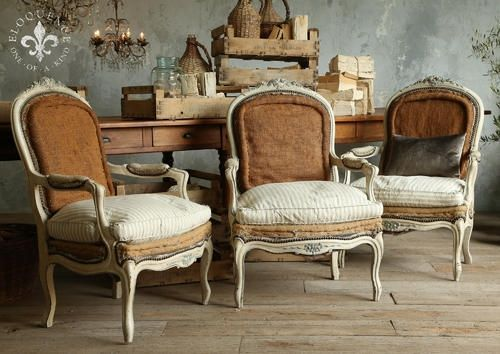 upholstered French country furniture in neutral shade