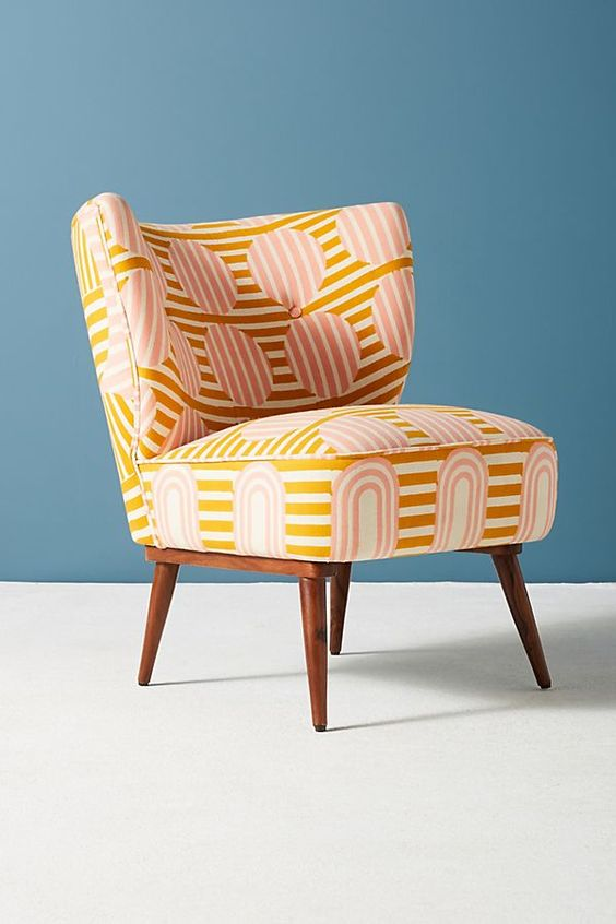 Anthropologie's accent chair with bold prints