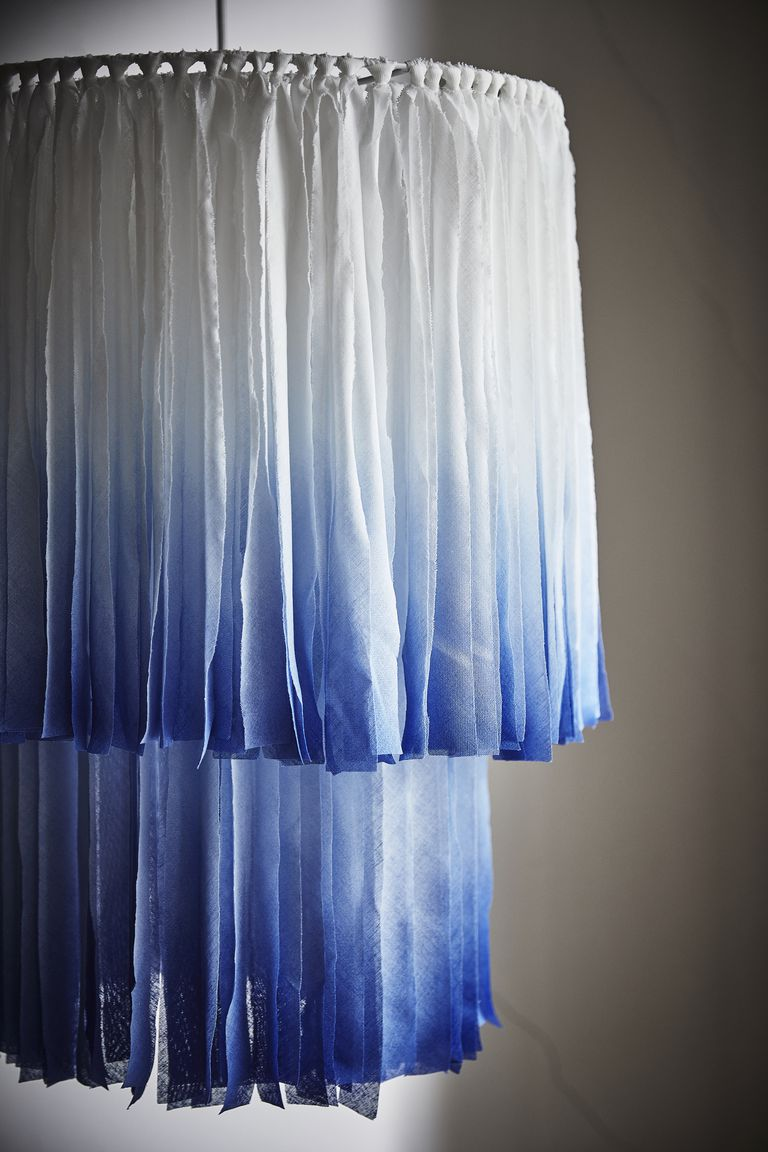 blue ombree room divider made of cotton