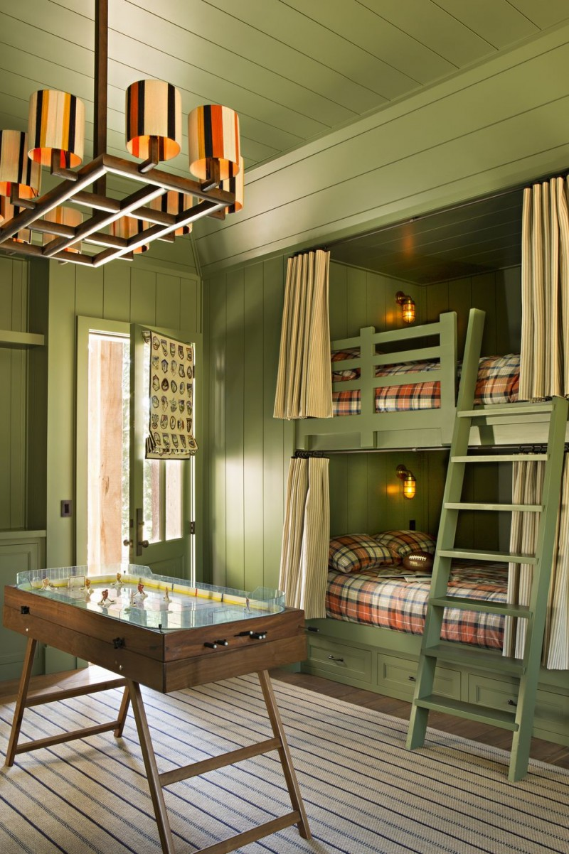 green bunk bed with ladder green bunk bed draperies