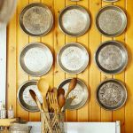 Pie Pans Wall Decor Idea Wood Walls B